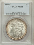 Morgan Dollars: , 1890-O $1 MS61 PCGS. PCGS Population (293/9292). NGC Census:(193/7323). Mintage: 10,701,000. Numismedia Wsl. Price for pro...