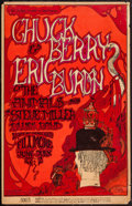 "Movie Posters:Rock and Roll, Chuck Berry, Eric Burdon & The Animals, & Steve MillerBlues Band at the Fillmore (Bill Graham, 1967). Concert Poster (14""X..."
