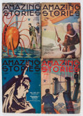 Pulps:Science Fiction, Amazing Stories Group (Ziff-Davis, 1926-34) Condition: AverageGD/VG.... (Total: 7 Items)