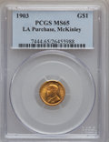Commemorative Gold, 1903 G$1 Louisiana Purchase/McKinley MS65 PCGS....