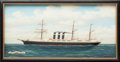 , SET OF FOUR DIORAMAS OF HISTORIC SHIPS BY J.J. MARISTANY. 20thcentury. 18 x 40-1/2 x 2 inches (45.7 x 102.9 x 5.1 cm). Th...(Total: 4 Items)