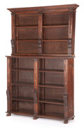 Furniture , AN ITALIAN BOOKCASE WITH ADJUSTABLE SHELVES. 19th century. 84-1/2 inches x 53-1/4 inches x 15-3/4 inches (214.6 x 135.3 x 40...