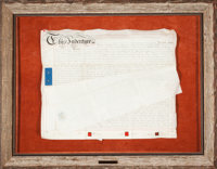 AN ENGLISH INDENTURE March 20, 1862 Manuscript 36 x 46-1/4 inches (91.4 x 117.5 cm)  The Elton M. Hyd