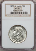 Commemorative Silver: , 1938-S 50C Boone MS66 NGC. NGC Census: (107/32). PCGS Population(130/33). Mintage: 2,100. Numismedia Wsl. Price for proble...