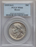 Commemorative Silver: , 1935/34-S 50C Boone MS66 PCGS. PCGS Population (97/18). NGC Census:(85/21). Mintage: 2,004. Numismedia Wsl. Price for prob...