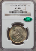 Commemorative Silver: , 1935/34 50C Boone MS66+ NGC. CAC. NGC Census: (250/44). PCGSPopulation (229/40). Mintage: 10,008. Numismedia Wsl. Price fo...