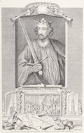 Fine Art - Work on Paper:Print, GROUP OF FOUR ENGLISH PRINTS. 18th century. Engravings. 17 x 12-1/2 inches (43.2 x 31.8 cm) (each). Includes: Edward I K... (Total: 4 Items)