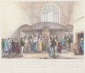 Fine Art - Work on Paper:Print, PAIR OF ENGLISH PRINTS: INTERIOR OF THE ANCIENT CHAPEL OF ST. MARY MAGDALEN, GUILDHALL AND THE KING AND HIS MINISTRIES IN COUN... (Total: 2 Items)