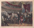 Fine Art - Work on Paper:Print, PETER FREDERICK ROTHERMEL (American, 1817-1895). The United States Senate, A.D. Debating the Compromise of 1850. Hand-co...