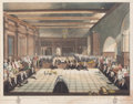 Fine Art - Work on Paper:Print, REPRESENTATION OF THE CEREMONY OF PRESENTING THE SHERIFFS OF LONDON, SAMUEL BIRCH, & WILLIAM HEYGATE. January 1, 1813. Engra...