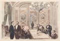Fine Art - Work on Paper:Print, PAIR OF ENGLISH PRINTS: OPENING THE NEW ORLEANS EXPOSITION IN THE WHITE HOUSE, WASHINGTON AND PRESIDENT GRANT AND HIS CABINET ... (Total: 2 Items)