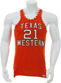 Basketball Collectibles:Uniforms, 1966 Jerry Armstrong Game Worn Texas Western Miners Jersey....