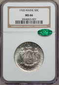 Commemorative Silver: , 1920 50C Maine MS66 NGC. CAC. NGC Census: (283/29). PCGS Population(383/20). Mintage: 50,028. Numismedia Wsl. Price for pr...