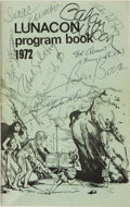 Books:Science Fiction & Fantasy, [SF Convention Program]. SIGNED. Lunacon Program Book 1972.Signed by Isaac Asimov, Lester del Rey, Gahan Wilson, ...