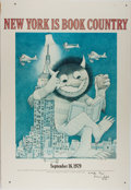 Books:Prints & Leaves, [From the Home of Opera Star, Beverly Sills]. Maurice Sendak. ColorPrint Entitled, New York Is Book Country. Affe...