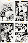 Original Comic Art:Panel Pages, Joe Quesada and Kevin Nowlan Batman: Sword of Azrael #4Original Art Group (DC, 1993).... (Total: 4 Original Art)