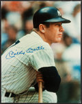 Baseball Collectibles:Photos, Mickey Mantle Signed Oversized Photograph Display. ...