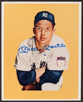 Baseball Collectibles:Photos, Mickey Mantle Signed Photograph....