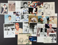 Autographs:Photos, Baseball Greats Signed Photographs Lot Of 22....