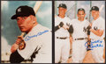 Baseball Collectibles:Photos, Mickey Mantle Signed Photographs Lot of 2....