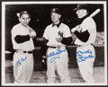 Baseball Collectibles:Photos, Yogi Berra, Whitey Ford and Mickey Mantle Signed Photograph. ...