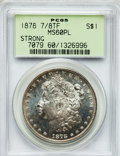 Morgan Dollars: , 1878 7/8TF $1 Strong MS60 Prooflike PCGS. PCGS Population (8/265).NGC Census: (6/250). Numismedia Wsl. Price for problem ...