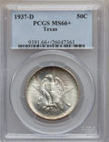 Commemorative Silver: , 1937-D 50C Texas MS66+ PCGS. PCGS Population (492/124). NGC Census:(459/96). Mintage: 6,605. Numismedia Wsl. Price for pro...