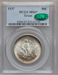 Commemorative Silver: , 1937 50C Texas MS67 PCGS. CAC. PCGS Population (88/2). NGC Census:(67/7). Mintage: 6,571. Numismedia Wsl. Price for proble...