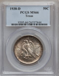 Commemorative Silver: , 1938-D 50C Texas MS66 PCGS. PCGS Population (285/73). NGC Census:(299/92). Mintage: 3,775. Numismedia Wsl. Price for probl...