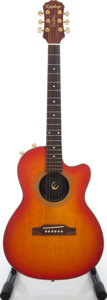 Musical Instruments:Electric Guitars, 2000s Epiphone Chet Atkins Cherry Sunburst Solid Body ElectricGuitar. ...