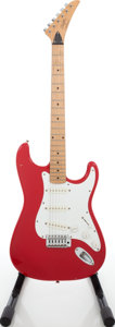 Musical Instruments:Electric Guitars, Circa 1985 Martin Stinger SWG Red Solid Body Electric Guitar....