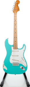 Musical Instruments:Electric Guitars, 1979 Fender Stratocaster Seafoam Green Solid Body Electric Guitar, Serial # S93279....
