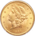 Liberty Double Eagles, 1889 $20 MS62+ PCGS....