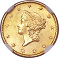 Gold Dollars, 1849 G$1 Open Wreath MS65 NGC. Breen-6002....