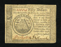 Colonial Notes:Continental Congress Issues, Continental Currency September 26, 1778 $50 Choice Extremely Fine.A very attractive and lightly circulated example with the...