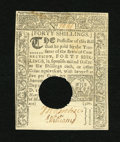 Colonial Notes:Connecticut, Connecticut March 1, 1780 40s Choice About New. A very attractiveConnecticut note with a light horizontal fold and the typi...