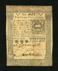 Colonial Notes:Pennsylvania, Pennsylvania October 1, 1773 15s About New. A single fold and someminor handling are found on this crisp and well signed Pe...