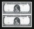 Miscellaneous:Other, American Bank Note Company Specimen Uncut Pair $10 Series 1929.These specimens were printed by the ABNCo as Series of 1929,...