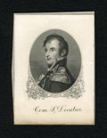 Miscellaneous:Other, Com. S. Decatur Engraved Portrait Card. This BEP card has theportrait of S. Decatur that was used on 1878 and 1880 $20 Silv...