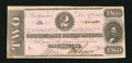 Confederate Notes:1862 Issues, T54 $2 1862. Light handling is noticed on this $5 that has a smallmoisture spot in its lower left-hand corner. About Unci...