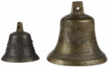 Bronze:American, Bronze bell. Unknown maker, probably Continental . Nineteenthcentury. Bronze. Unmarked . The largest: 6 inches high x 3.5...(Total: 4 Items)