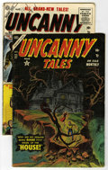 Golden Age (1938-1955):Horror, Uncanny Tales #27 and 34 Group (Atlas, 1954-55) Condition: AverageVG-.... (Total: 2 Comic Books)