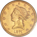 Liberty Eagles, 1871-S $10 AU53 PCGS. CAC....