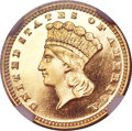 Proof Gold Dollars, 1888 G$1 PR65 Ultra Cameo NGC....