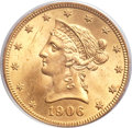 Liberty Eagles, 1906 $10 MS64 PCGS....
