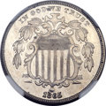 Patterns, 1865 5C Shield Five Cents, Judd-416, Pollock-488, High R.6, PR63NGC....
