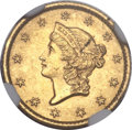 Gold Dollars, 1850-O G$1 MS62 NGC. Variety 1....