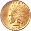 Indian Eagles, 1909 $10 MS64 PCGS....