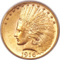 Indian Eagles, 1916-S $10 MS63 PCGS....