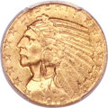 Indian Half Eagles, 1912-S $5 MS62 PCGS. CAC....
